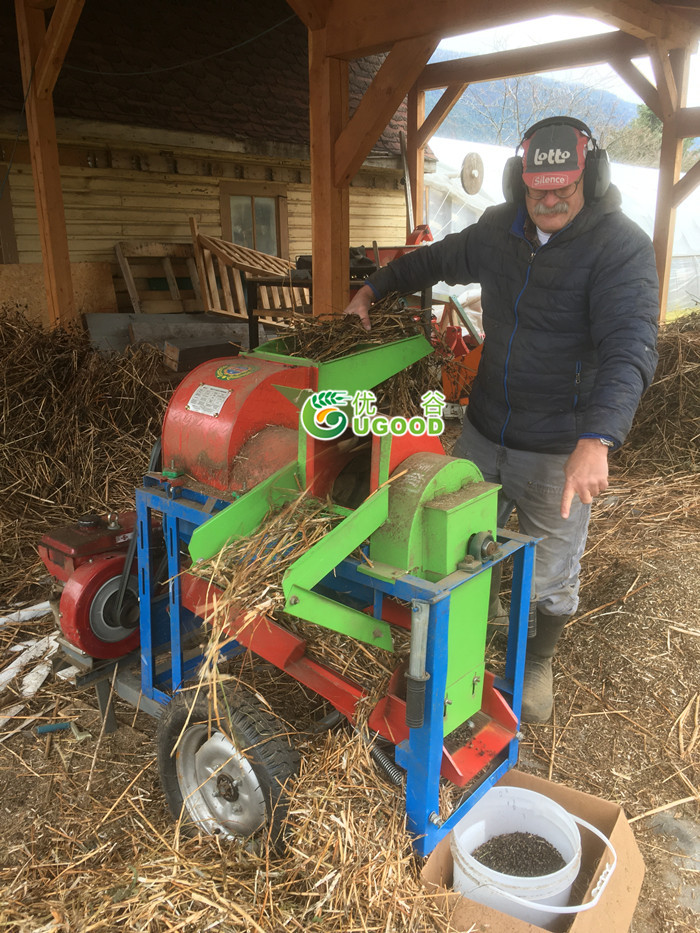 Good Feedback from Our Canadian Client about the UGT-10 Multi-Crops Thresher