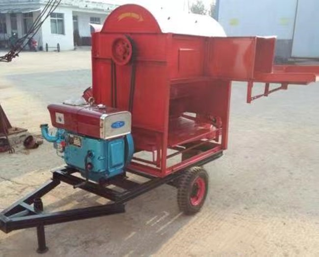 UGT-16 Portable Multi-crops Thresher with Diesel Engine Towing Bar Big Wheels